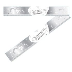 Diamond Anniversary Foil Banner