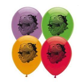 Dino Blast Printed Balloons pk6