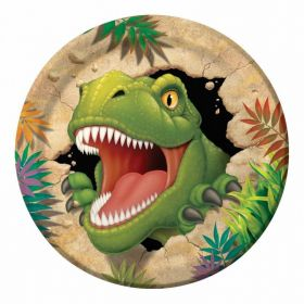 Dino Blast Paper Party Plates pk8 9''
