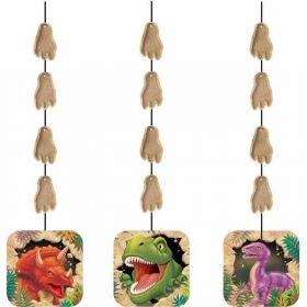 Dino Blast Party Hanging Cutouts pk3