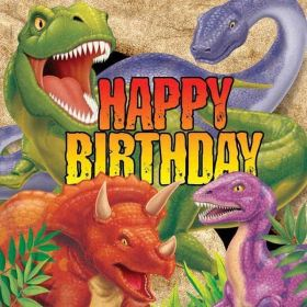 Dino Blast Party Luncheon Napkins pk16