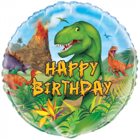 "Dinosaur Foil Balloon 18"""