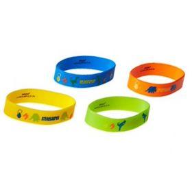 Dinosaur Prehistoric Rubber Bracelets, pk4