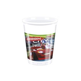 Disney Cars Neon Cups 200ml, pk8
