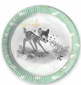 Disney Bambi Cutie Paper Plates 23cm, pk8