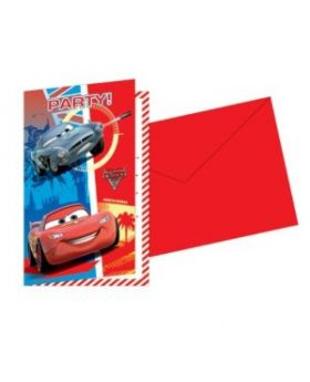 Disney Cars Invitations and Envelopes pk6