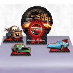 Disney Cars Balloon Centrepiece With Cars