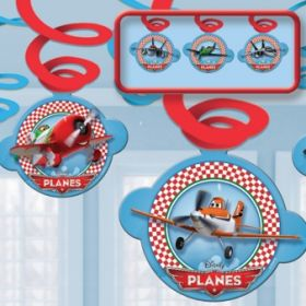 Disney Planes Swirl Party Decorations pk6