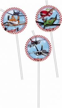 Disney Planes Party Straws pk6