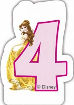 Disney Princess Party Candle No.4