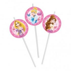 Disney Princess Sparkle Party Straws pk6