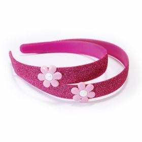 Doc McStuffins Child Size Pink Glitter Headbands pk4