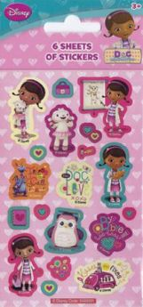 Doc McStuffins Party Stickers pk6