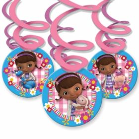 Doc McStuffins Swirl Party Decorations pk6