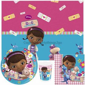 Doc McStuffins Party Pack For 8 including tableware and 8 filled party bags