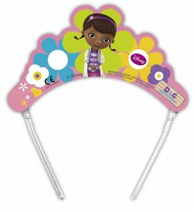 Doc McStuffins Party Paper Tiaras pk6