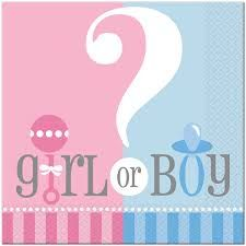Gender Reveal Lunch Napkins pk20