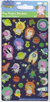 Peppa Pig Foil Stickers (George)
