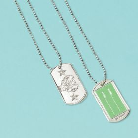 Electroplated Dog Tag pk12