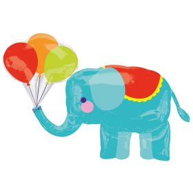 "Circus Elephant SuperShape Foil Balloon 36"" x 26"""