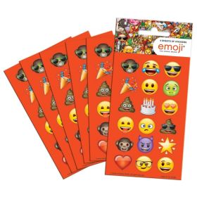 Emoji Party Bag Stickers, pk6