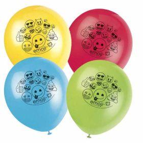 Emoji Latex Balloons pk8