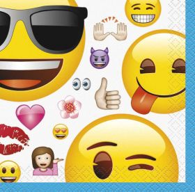 Emoji Beverage Napkins pk16