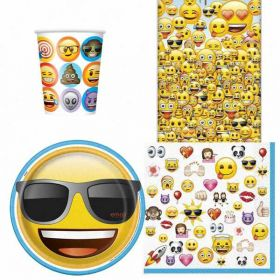 Emoji Party Tableware Pack for 8