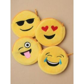Emoji Face Zip Purse