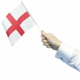 St. Georges Day / England Waving Flags 12 Pack