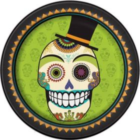 "Day of the Dead 9"" Plates pk8"