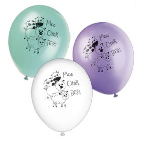 Farm Animals Party Latex Balloons
