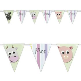 Farmyard Party Flag Banner