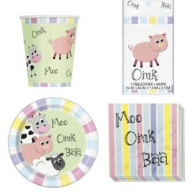 Farmyard Party Tableware Pack for 16