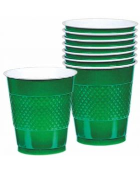 Festive Green Plastic Party Cups 20pk