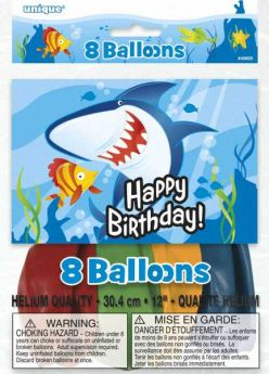 "Fin Friends Party 12"" Latex Balloons, pk8"