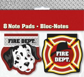 Fire Truck Notepads pk8