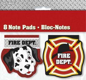 Fire Truck Notepads pk8