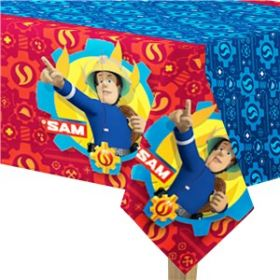 Fireman Sam Plastic Party Tablecover