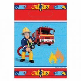 Fireman Sam Plastic Party Loot Bags, pk8