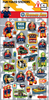 Fireman Sam Foil Sticker Strip