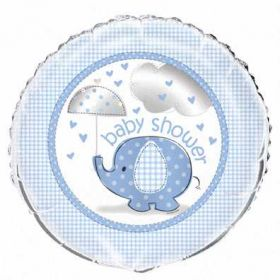 Umbrellaphants Blue Baby Shower Foil Balloon