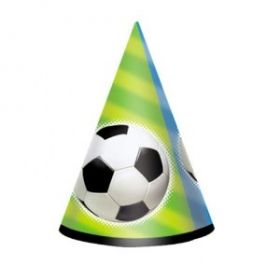 Football Cone Party Hat, pk8