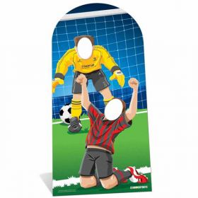 World Football Event Stand In Cardboard Cutout - Adult Size