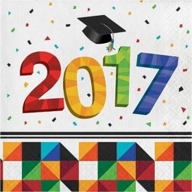 Graduation 2017 Fractal Fun Lunch Napkins pk16