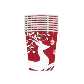 Frosted Holiday Party Cups 270ml, pk8