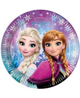 Disney Frozen Northern Lights Plates 23cm, pk8