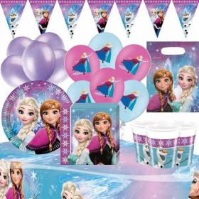 Frozen Northern Light Deluxe Party Supplies Kit for 16