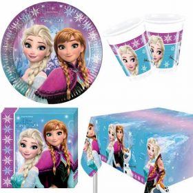 Frozen Northern Lights Party Tableware Pack for 8