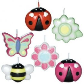 Garden Girl Mini Mould Party Candles, Pack of 6